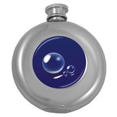 Bubbles 7 Hip Flask (round) by NickGreenaway