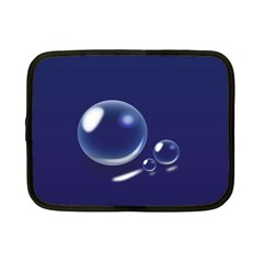 Bubbles 7 Netbook Sleeve (small) by NickGreenaway