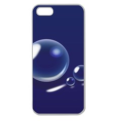 Bubbles 7 Apple Seamless Iphone 5 Case (clear) by NickGreenaway