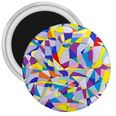 Fractured Facade 3  Button Magnet by StuffOrSomething