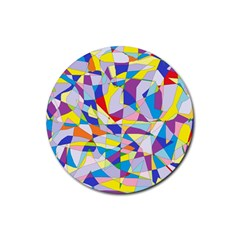 Fractured Facade Drink Coaster (round)