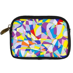 Fractured Facade Digital Camera Leather Case