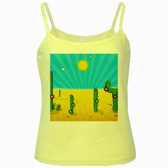 Cactus Yellow Spaghetti Tank by NickGreenaway