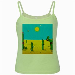 Cactus Green Spaghetti Tank by NickGreenaway