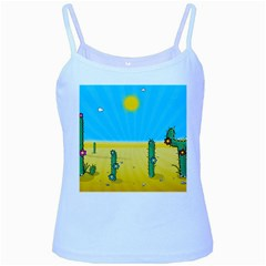 Cactus Baby Blue Spaghetti Tank by NickGreenaway