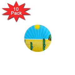Cactus 1  Mini Button Magnet (10 Pack) by NickGreenaway