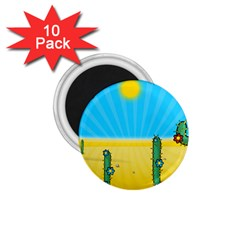 Cactus 1 75  Button Magnet (10 Pack) by NickGreenaway