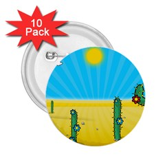 Cactus 2 25  Button (10 Pack) by NickGreenaway