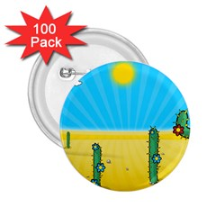 Cactus 2 25  Button (100 Pack) by NickGreenaway