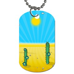 Cactus Dog Tag (one Sided) by NickGreenaway
