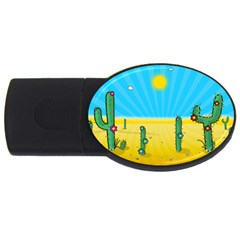 Cactus 2gb Usb Flash Drive (oval) by NickGreenaway