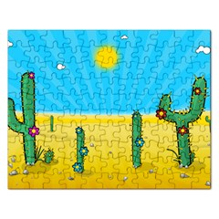 Cactus Jigsaw Puzzle (rectangle) by NickGreenaway