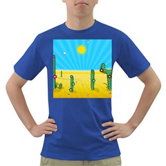 Cactus Men s T Shirt (colored) by NickGreenaway
