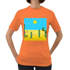 Cactus Women s T Shirt (colored) by NickGreenaway