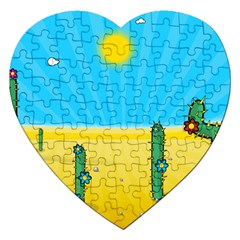 Cactus Jigsaw Puzzle (heart) by NickGreenaway