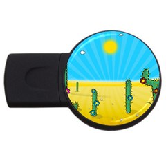 Cactus 4gb Usb Flash Drive (round) by NickGreenaway
