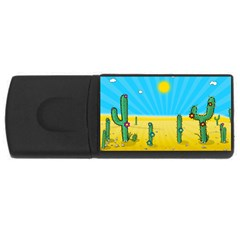 Cactus 4gb Usb Flash Drive (rectangle) by NickGreenaway