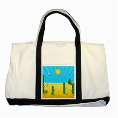 Cactus Two Toned Tote Bag by NickGreenaway