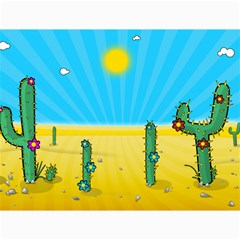 Cactus Canvas 12  X 16  (unframed) by NickGreenaway