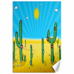 Cactus Canvas 20  X 30  (unframed) by NickGreenaway