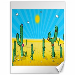 Cactus Canvas 36  X 48  (unframed) by NickGreenaway