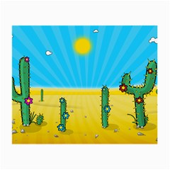 Cactus Glasses Cloth (small, Two Sided) by NickGreenaway