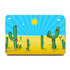 Cactus Small Door Mat by NickGreenaway