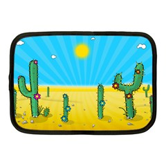 Cactus Netbook Sleeve (medium) by NickGreenaway