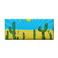 Cactus Hand Towel by NickGreenaway