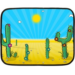 Cactus Mini Fleece Blanket (two Sided) by NickGreenaway