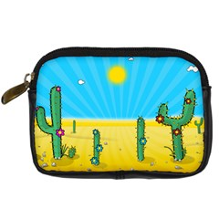 Cactus Digital Camera Leather Case by NickGreenaway