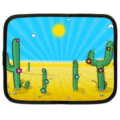 Cactus Netbook Sleeve (xxl) by NickGreenaway