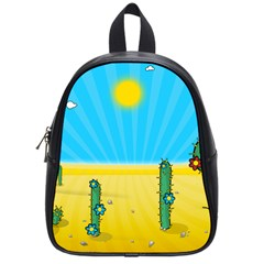 Cactus School Bag (small) by NickGreenaway