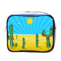Cactus Mini Travel Toiletry Bag (one Side) by NickGreenaway