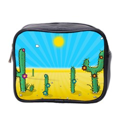Cactus Mini Travel Toiletry Bag (two Sides)