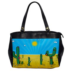Cactus Oversize Office Handbag (one Side) by NickGreenaway