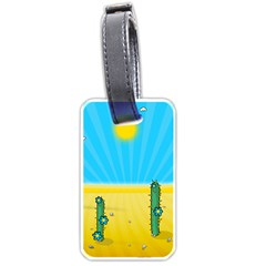 Cactus Luggage Tag (two Sides) by NickGreenaway
