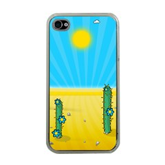 Cactus Apple Iphone 4 Case (clear) by NickGreenaway