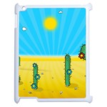 Cactus Apple iPad 2 Case (White) Front