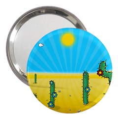 Cactus 3  Handbag Mirror by NickGreenaway
