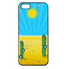 Cactus Apple Iphone 5 Seamless Case (black) by NickGreenaway