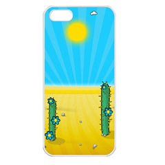 Cactus Apple Iphone 5 Seamless Case (white) by NickGreenaway
