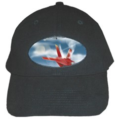 America Jet Fighter Air Force Black Baseball Cap by NickGreenaway