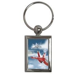 America Jet Fighter Air Force Key Chain (rectangle)