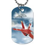 America Jet fighter Air Force Dog Tag (Two-sided)  Back