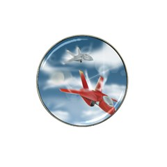 America Jet Fighter Air Force Golf Ball Marker 4 Pack (for Hat Clip) by NickGreenaway