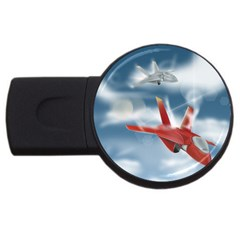 America Jet Fighter Air Force 4gb Usb Flash Drive (round) by NickGreenaway
