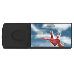 America Jet Fighter Air Force 4gb Usb Flash Drive (rectangle) by NickGreenaway