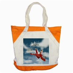 America Jet Fighter Air Force Accent Tote Bag by NickGreenaway