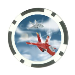 America Jet Fighter Air Force Poker Chip